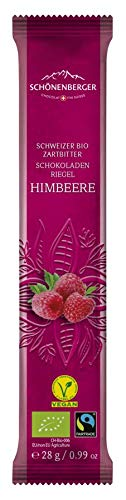Chocolat Schönenberger Bio Schweizer Bio Zartbitterschokoladenriegel Himbeere VEGAN (6 x 28 gr)