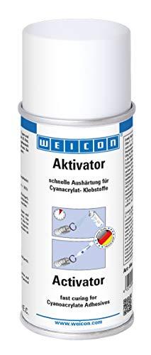 Weicon 12500150 CA-Aktivator Spray 150ml – Beschleunigte Aushärtung von Sekundenklebern, farblos