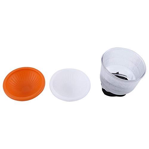 EBTOOLS Set di 2 diffusori con diffusore flash Lambency regolabili in arancione e bianco per flash Speedlite