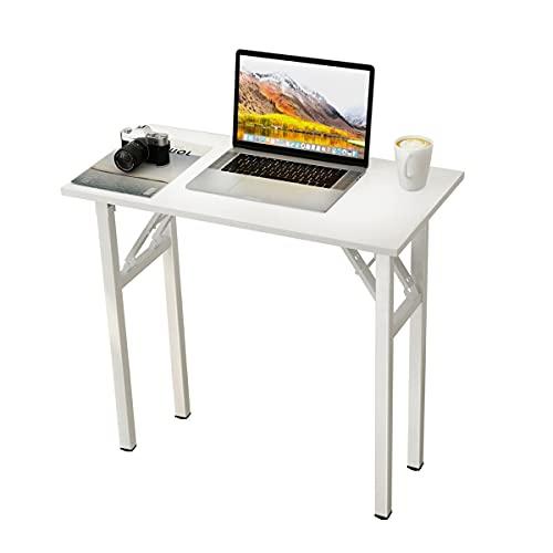 sogesfurniture Tavolo pieghevole, Scrivania da studio per ufficio, Tavolo da pranzo per workstation,...