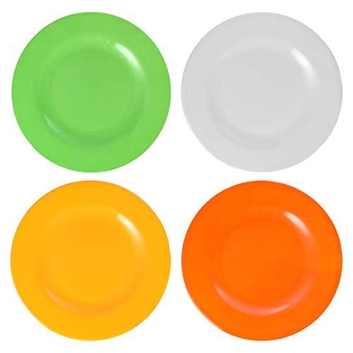 HEMOTON 4-teilige Melaminplatten Melamin-Essplatte Küchensicheres Melamin-Geschirr