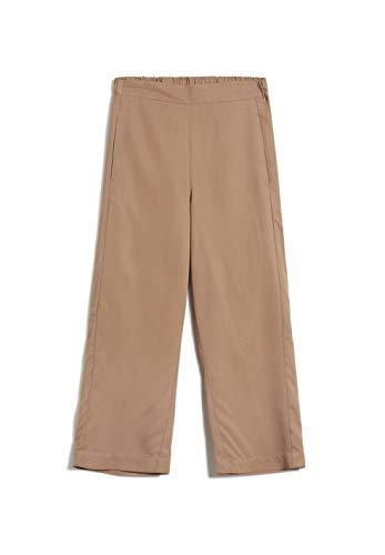 ARMEDANGELS Damen Hose aus Tencel™ Lyocell - KAMALAA - L Dark Caramel 100% Lyocell (Tencel™) Hose Stoffhose