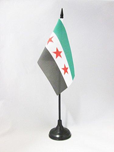 AZ FLAG TISCHFLAGGE SYRIEN 15x10cm - SYRISCHE TISCHFAHNE 10 x 15 cm - flaggen