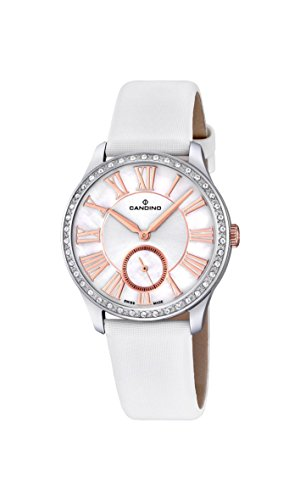Candino Damen Analog Quarz Uhr mit Leder Armband C4596/1