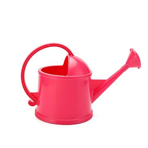 BFFDD Plegadora de Engrosamiento de plástico Regadera para jardinería, Macetero de riego de Boca Larga, Diseño Simple, 3.8 litros de Volumen (Color : Pink)