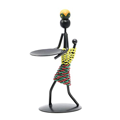 Candlestick Candle Holders for Home Decor Metal Candlesticks Abstract Figure TeaLight Girl Sculpture Table Top Decorative for Christmas Wedding Food