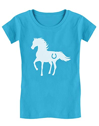 Cheval Wild Style Luck T-Shirt Fille 11/12 Ans 152cm Turquoise