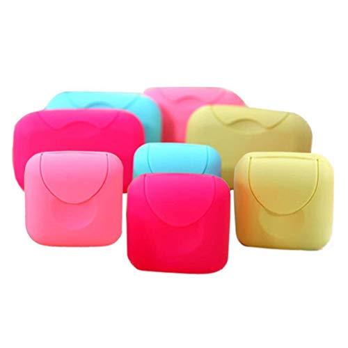 Nanxin Portátil Caja de Contenedor de Jabón de Color Caramelo 2 pcs Jabonera de Viaje con Cierre para Viajar, Acampar y Otras Actividades al Aire