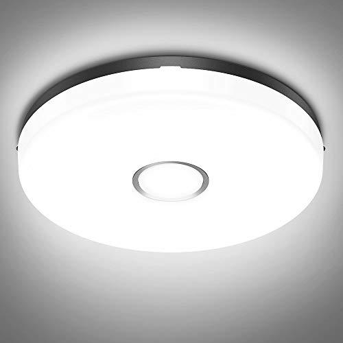 Olafus 18W LED Deckenleuchte Bad, IP54 Wasserfest Badlampe Kaltweiß, 5000K 1600lm Bad Deckenlampe Feuchtraum, Ø24cm Wandlampe Rund Ideal für Badezimmer Küche Balkon Flur