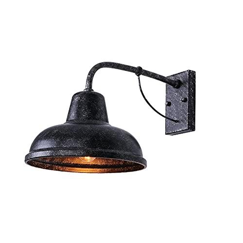 Lámpara exterior lámpara de pared retro jardín al aire libre patio lámpara al aire libre residencial villa puerta industrial viento exterior lámpara de pared dos opciones de color ( Color : B )