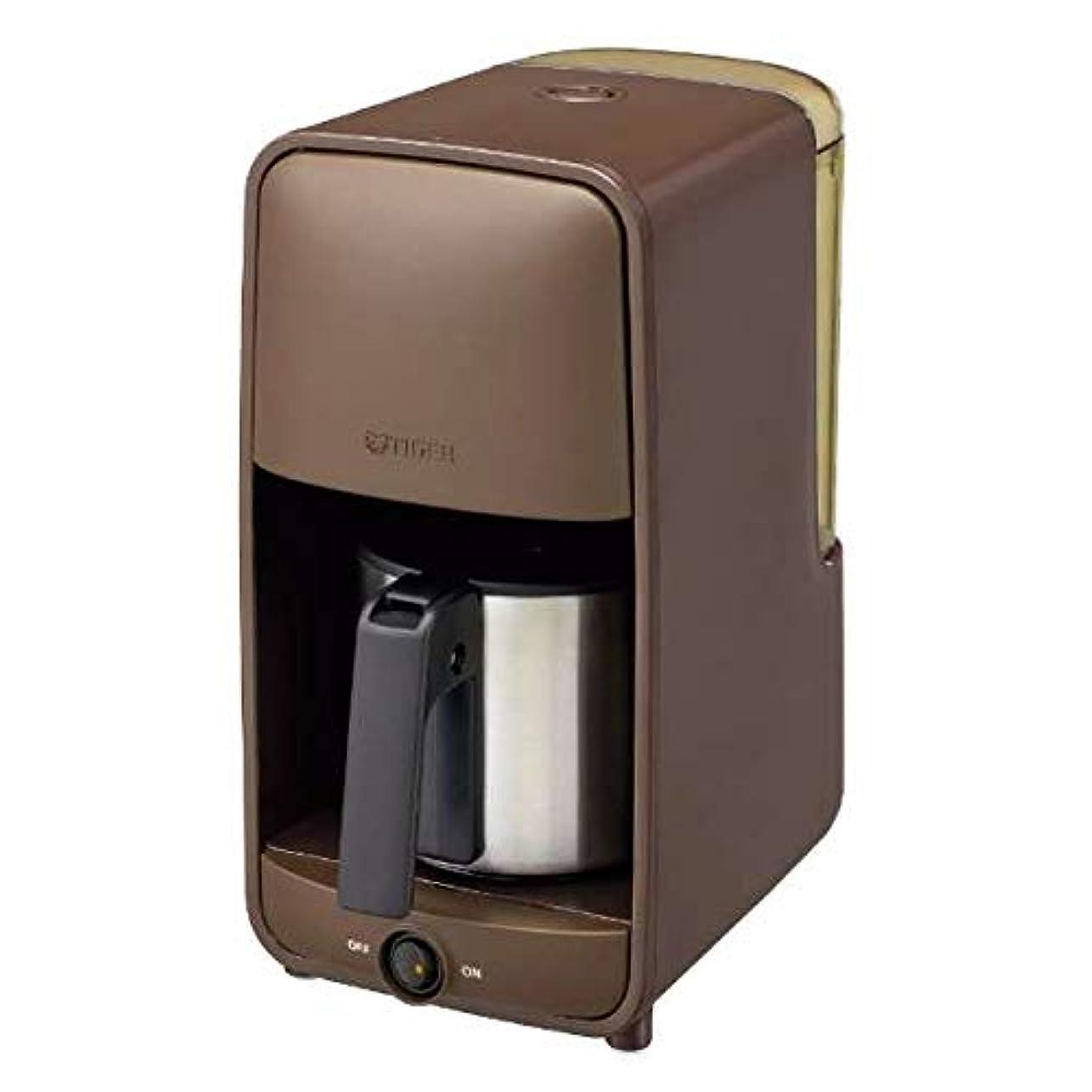 感性むしゃむしゃねばねばタイガー コーヒーメーカー ダークブラウンTIGER ADC-A060-TD
