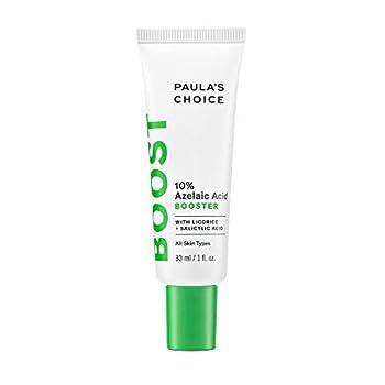 Paula s Choice BOOST 10% Azelaic Acid Booster Cream Gel Licorice Extract & Salicylic Acid Oil-Free Skin Brightening Serum 1 Ounce