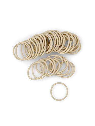 Heliums Small Light Blonde Hair Elastics, 2mm Mini 1 Inch Sized Match Hair Ties for Kids, Braids and Fine Hair - 48 Count