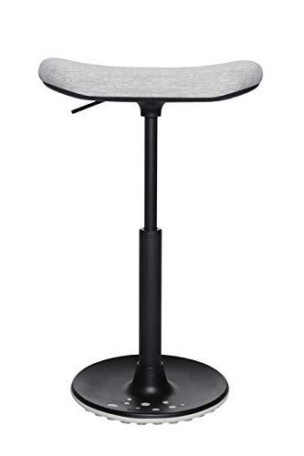 Topstar Sitness H2 hoker, do pracy na stojąco, stołek obrotowy, siedzisko deskorolki, z regulacją wysokości, obicie z tkaniny poliestrowej, kolor jasnoszary