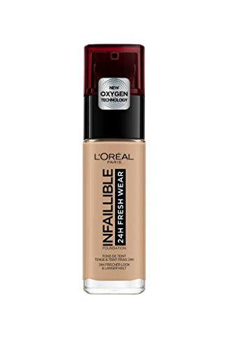 L'Oréal Paris Infaillible 24H Fresh Wear Make-up 220 Sand, hohe Deckkraft, langanhaltend,...