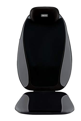 Shiatsu Pro Plus Heated Massage Cushion | Heated Vibrating Pad, Dual-Kneading Shiatsu Massager | Back, Shoulder, Thigh & Neck Massager, Fits Most Chairs | HoMedics