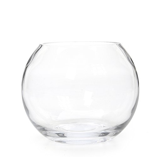 "Hosley's 6' Diameter Glass Bowl. Ideal Gift for Wedding, Special Occasion, Floral Centerpiece Arrangements, Tealight Gardens, Spa & Aromatherapy Settings, DIY Craft Projects O3 (6"")"
