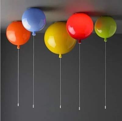 Moderne kinderen 6 kleuren ballon acryl plafond lamp home deco kinderen slaapkamer E27 lamp plafond lampen met schakelaar