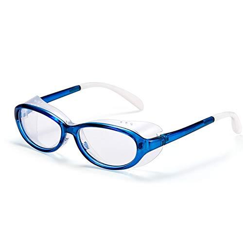 QIULAO Gafas Anti-Polen Infantiles, Almohadillas de Silicona Desmontable Gafas, Anti-Niebla, Anti-Azul, Anti-gotea, Resistente al Polvo, Anti-Ultravioleta, Adecuado para Gafas de Seguridad para niños