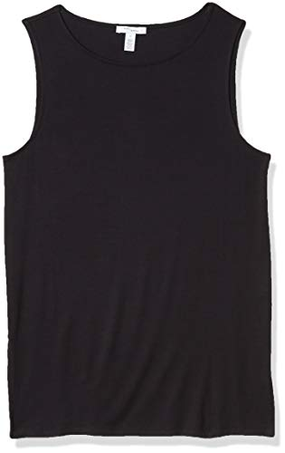 Amazon Brand - Daily Ritual Women's Jersey Sleeveless Shell Top With Side Splits, Navy, XX-Large