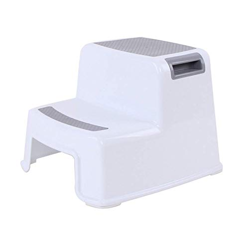 Abilieauty 2 Tritthocker Kleinkind Kinder Stuhl Toilette Töpfchen Training rutschfest für Badezimmer Küche - grau