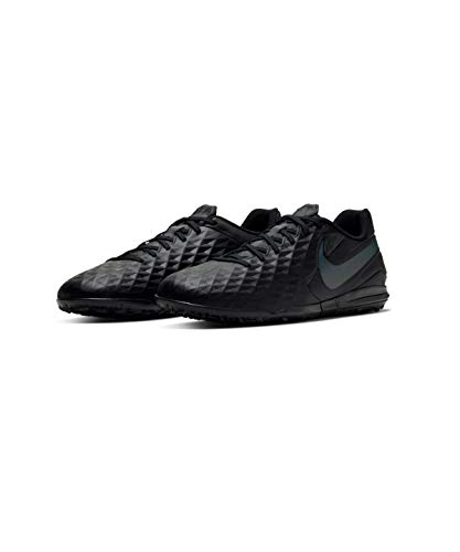 Nike Unisex-Adult Legend 8 Academy TF Football Shoe, Schwarz Black Black 010, 43 EU