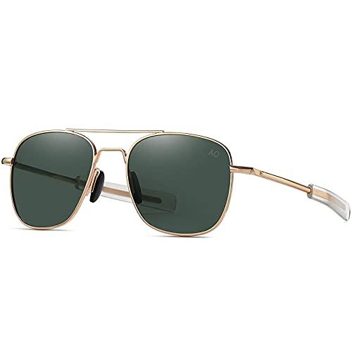 LHSDMOAT Gafas de sol para hombre y mujer, estilo vintage, rectangulares, Uv400, protección de gafas de conducción retro, para mujeres, protección UV
