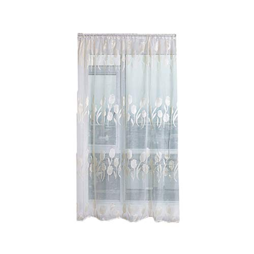 ClodeEU Sheer Curtain Tulle Window Treatment Voile Drape Valance Fabric Wall Hanging for Room White