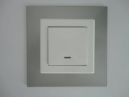 GEA - Paneles para interruptor, marco decorativo, efecto de cristal lacado, apto para todos los interruptores disponibles
