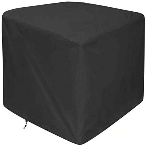 UYZ Fundas para Muebles de jardín Impermeables 120x120x75cm, Funda para Muebles de Patio, Tela Oxford Rectangular, Resistente al Viento, diseño de cordón Duradero, Color Negro, Personalizable, n