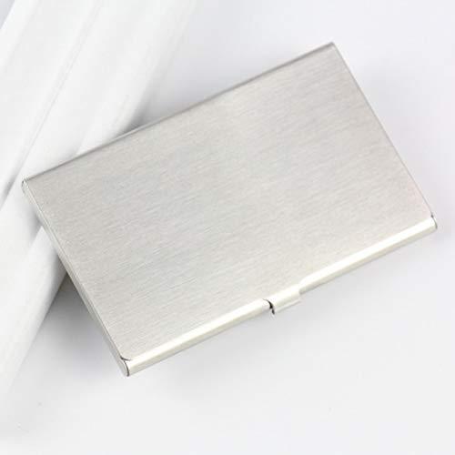 Miada - Tarjetero multiusos de acero inoxidable para tarjetas de visita, color H04