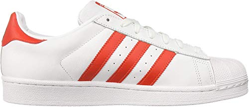 adidas Originals Damen Superstar Turnschuh, Weiß/Aktiv Rot/Core Schwarz, 36 EU