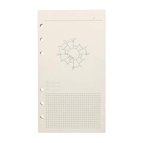A6 6穴カバー ラウンドリングビューバインダー ファイルフォルダー ルーズリーフシートプロテクター/ノートブック リフィル/DIYスクラップブック/バインダーカバープロテクター, A6 Time Planning 手帳リフィル, 1 パッケージ