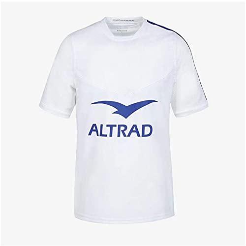 GOLDEN MANGO 2021 Frankreich Home/Away Männer Rugby Jersey, Sommersport Atmungsaktives Casual T-Shirt Football Hemd Poloshirt, Outdoor Casual Training Shirt,Weiß,XXL