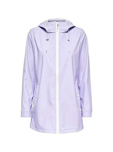 ONLY Damen Regenjacke Outdoor Jacke Regenmantel (S, Violett)