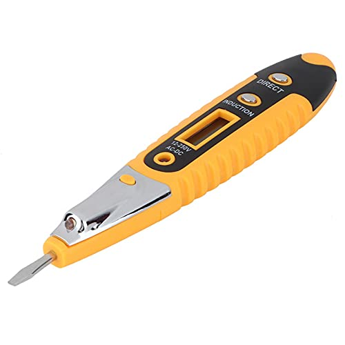 Lápiz de prueba de 12 a 250V LED HD para electricista(yellow)