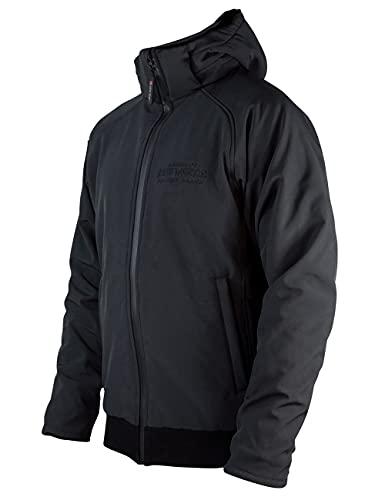 John Doe Softshell 2en1 XTM - Noir | Veste de moto | XTM | Protections insérables | Respirant | Imperméable | Capuche amovible