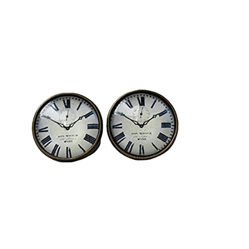 Uhr Ohrstecker - winzige Ohrstecker - Uhr - Uhr Ohrringe - Uhr Ohrringe - Uhr Ohrringe - Alltagsohrringe - Minimalismus - Modern - Grau Weiß Schwarz