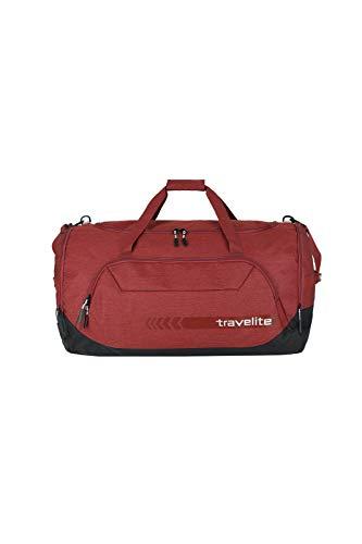 travelite große Reisetasche Größe XL, Gepäck Serie KICK OFF: Praktische Reisetasche für Urlaub und Sport, 006916-10, 70 cm, 120 Liter, rot