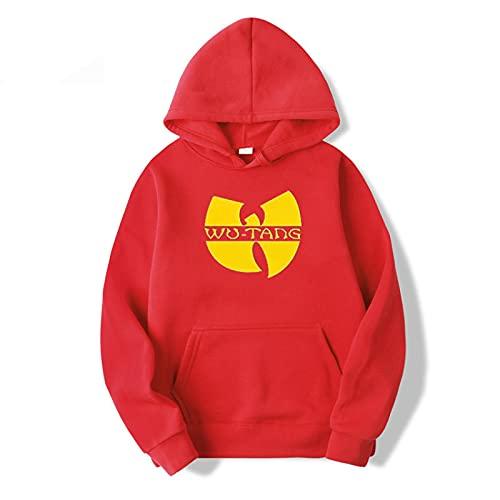 Sudadera Imprimir Sudadera con Capucha Moda Hip Hop Band Diseño De Logotipo Sudaderas con Capucha Moda Sudadera De Manga Larga Música Rap Sudadera con Capucha Tops XL Rojo