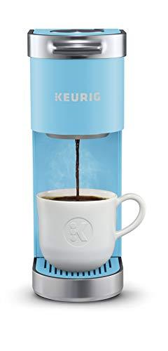 Keurig K-Mini Plus Coffee Maker, Single Serve K-Cup Pod Coffee Brewer, Comes With 6 to 12 Oz. Brew Size, K-Cup Pod Storage, and Travel Mug Friendly, Cool Aqua