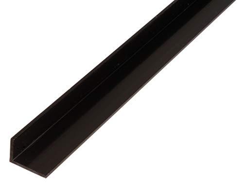 Perfil angular de plástico, negro, 479046