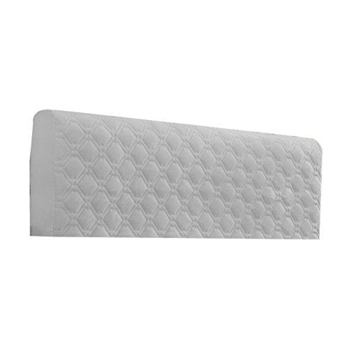 Baoblaze Staubdichte Bettkopfteil Kopfteil Bezüge Husse Cover Abdeckungen für Schlafzimmer - Grau