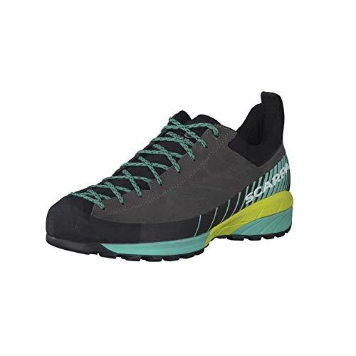 Scarpa W Mescalito Grau-Grün, Damen Hiking- und Approach-Schuh, Größe EU 39 - Farbe Titanium - Green Blue