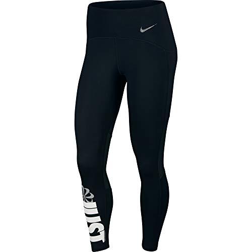 NIKE W Nk Icnclsh Speed Tght 7_8 Pantalones de Deporte, Mujer, Black/White/(Reflective silv), S
