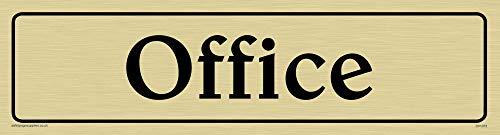 Viking Schilder dv1073-l26-gv'Office Türschild, positiven schwarz Text mit Bordüre, Vinyl gold Aufkleber, 225mm H x 60mm w