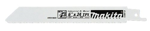 Makita 723067-A-5 6-Inch 24-TPI Metal Cutting Reciprocating Saw Blade (5-Pack)