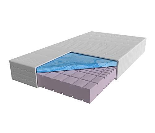 AM Qualitätsmatratzen - Premium-Gelschaum-Matratze 90x200cm H2 - Hochwertige Matratze mit 6cm Gelschaum-Auflage - 24cm Höhe - Made in Germany - 90 x 200