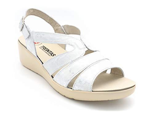 Sandalia Velcros Treintas M-3173 Blanco - Blanco, 39