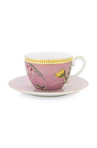 Pip Studio Cappuccino Tasse mit Untertasse La Majorelle | Pink - 280 ml